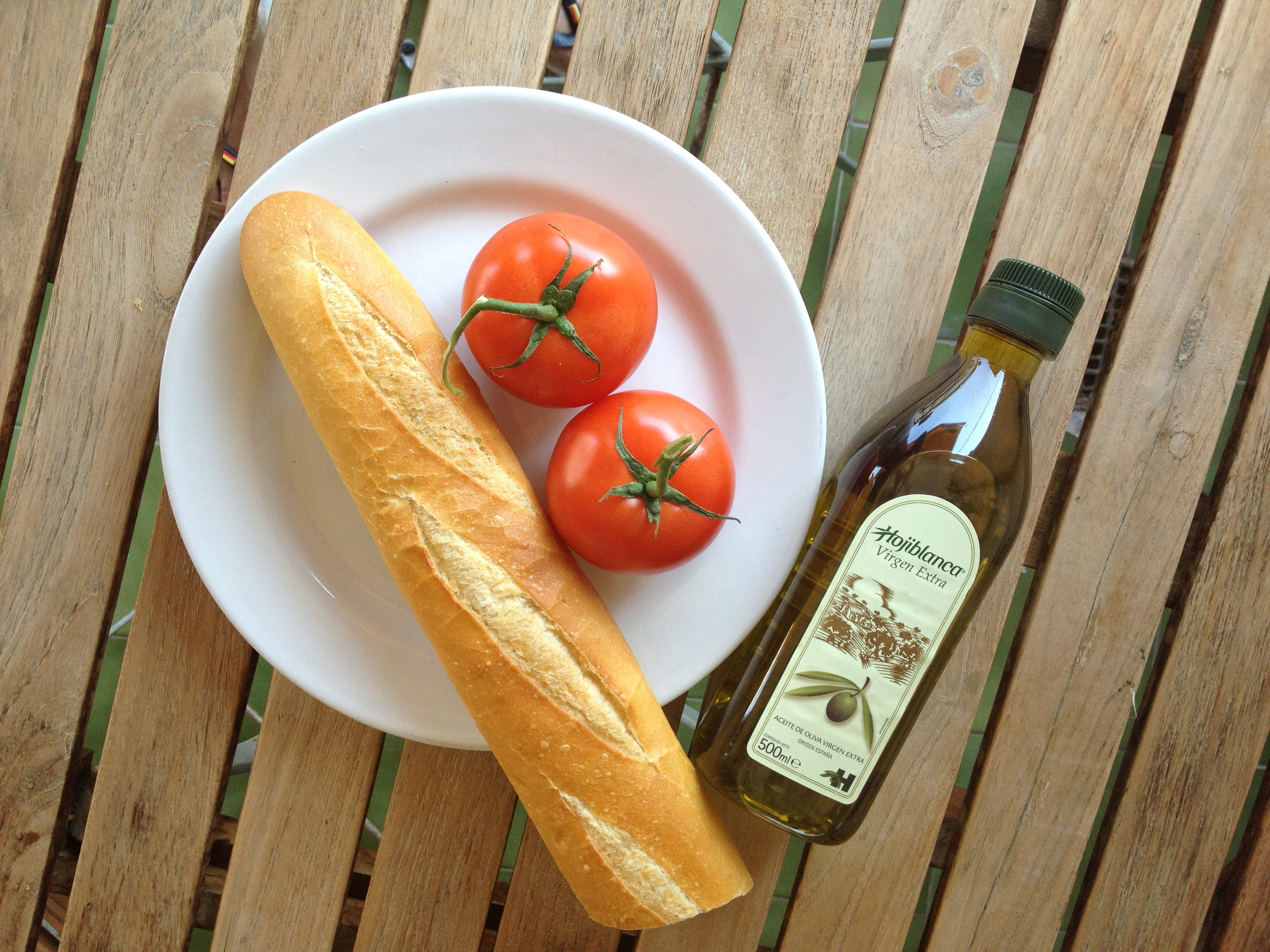 Bread. Tomato. Olive Oil.